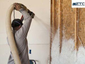 foam spray as a thermal insulation installation